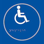 Picture of Disabled Toilet Blue Braille Sign