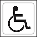 Picture of Disabled Toilet Symbol Braille Sign