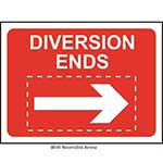 Picture of Diversion Ends Roll-up Sign With Reversible Arrow