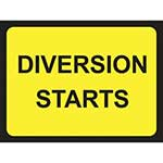 Picture of Diversion Starts Road Sign