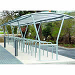 Picture of Double Sided Canterbury Cycle Shelters