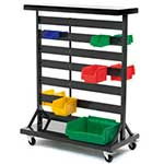 Picture of Double Sided Mobile Plastic Bin Container Rack