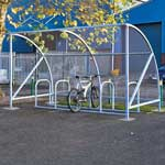Picture of Dudley Cycle Shelters With FREE Sheffield Cycle Rack