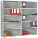Duo Shelving - Rear Clad Back Extension Bays with 6 Shelves