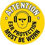 Ear Protection Must Be Worn Graphic Floor Marker