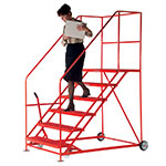 Picture of Easy Slope 45° Safety Steps 1000mm Wide 3 to 12 Metal Treads