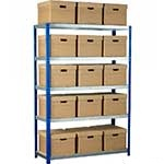 Picture of Ecorax - Topbox Shelving Units 5 shelves & Archive Boxes