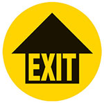 Exit with Arrow Graphic Floor Marker