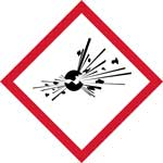Picture of GHS Explosive Pictogram Labels