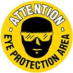 Picture of Eye Protection Area Graphic Floor Marker