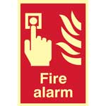Picture of Fire Alarm Photoluminescent Sign