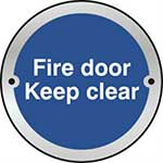 Fire Door Keep Clear Door Disc