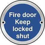 Picture of Fire Door Keep Locked Shut Door Disc