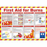 Picture of First Aid for Burns Poster