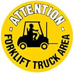 Picture of Forklift Truck Area Graphic Floor Marker