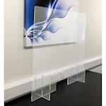 Picture of Free Standing Acrylic Desk Virus Protection Screens