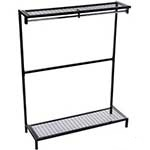Picture of Freestanding Garment Hanging Unit with Mesh Shoe Rack & Top Shelf