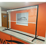 Picture of Freestanding Protective Clear PVC Roller Blinds