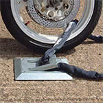 Picture of Fully Galvanised Motorcycle Locking Loop