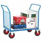 Picture of Galvanised Base Platform Trolley with Double Mesh End