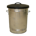 Picture of Galvanised Dustbins 90L