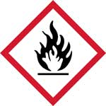 Picture of GHS Flammable Pictogram Labels