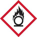 GHS Oxidising Pictogram Labels with FAST UK Delivery