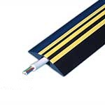 Hazard Identification Cable Covers - Red or Yellow Stripes
