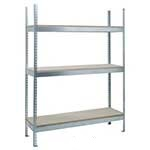 Heavy Duty Galvanised Shelving with 3 Chipboard Shelves
