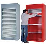 Heavy Duty Roller Shutter Cabinet, 3 shelves