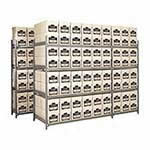 Picture of Heavy Duty Archive Storage Shelving 8 Boxes High