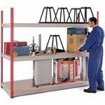 Picture of Heavy Duty Just Shelving 1981mm high with 3 shelf levels