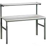 Picture of Height Adjustable TPH Bench with Upper Shelf