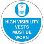 Hi-Vis Vests Must Be Worn Graphic Floor Marker