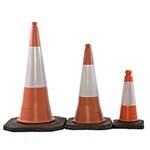 Picture of Pallet of Highwayman 2-Piece Traffic Cones