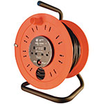 Industrial Extension Cable Reels with 4 Outlets, 25m and 40m