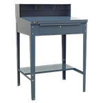 Picture of Industrial Workstation with Sloping Top & Lockable Drawer