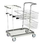 Picture of Janitorial Cleaning Trolleys with Mesh Baskets