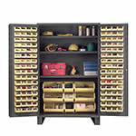 Jumbo Storage Cabinet including 137 Hook-On Bins