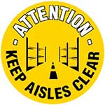 Keep Aisles Clear Graphic Floor Marker
