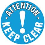 Keep Clear Graphic Floor Marker