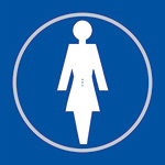 Picture of Ladies Toilet Blue Braille Sign