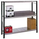 Picture of Longspan Shelving Bays 3 Galvanised Steel Decks/Shelves