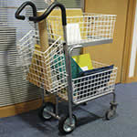 Picture of Mailroom Messenger Trolley with 3 Baskets