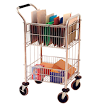 Picture of Mailroom Trolley with 2 Baskets