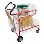 Picture of Mailroom Trolley with Comfort Grip Handles