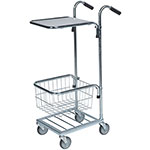 Mini Trolleys with Shelf and Baskets, 35kg Capacity