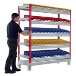 Picture of Mobile Just Kanban Shelving Bays With 5 Shelves