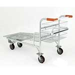 Picture of Nestable Cash & Carry Platform Truck with Integral Rear Basket