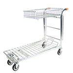 Nestable Stock Trolley with Integral Folding Basket